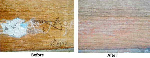 Brick and Stone Graffiti Removal Services by Cleanpoint Restoration at cleanpointrestoration.com