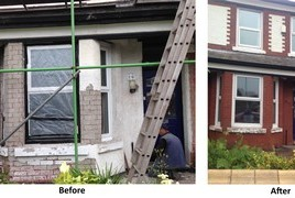 Brick and Stone Paint Removal Services by Cleanpoint Restoration at cleanpointrestoration.com