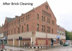 Commercial Property after brick cleaning