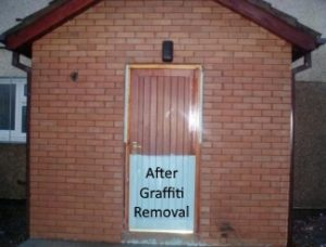 After graffiti removal services