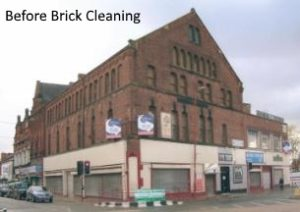 Commercial Property before brick cleaning